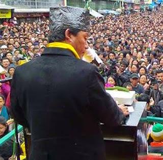 Bimal Gurung in Darjeeling Jansabha