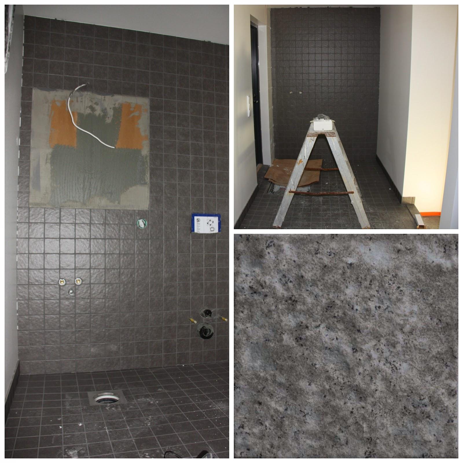 Cello Rock Antrasiitti 10x10 kodinhoitohuoneen ja wc:n laattana.