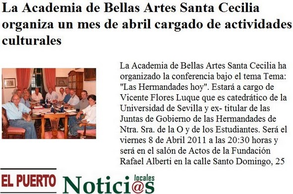 Academia de bellas artes de santa cecilia en la prensa for Noticias sobre espectaculos