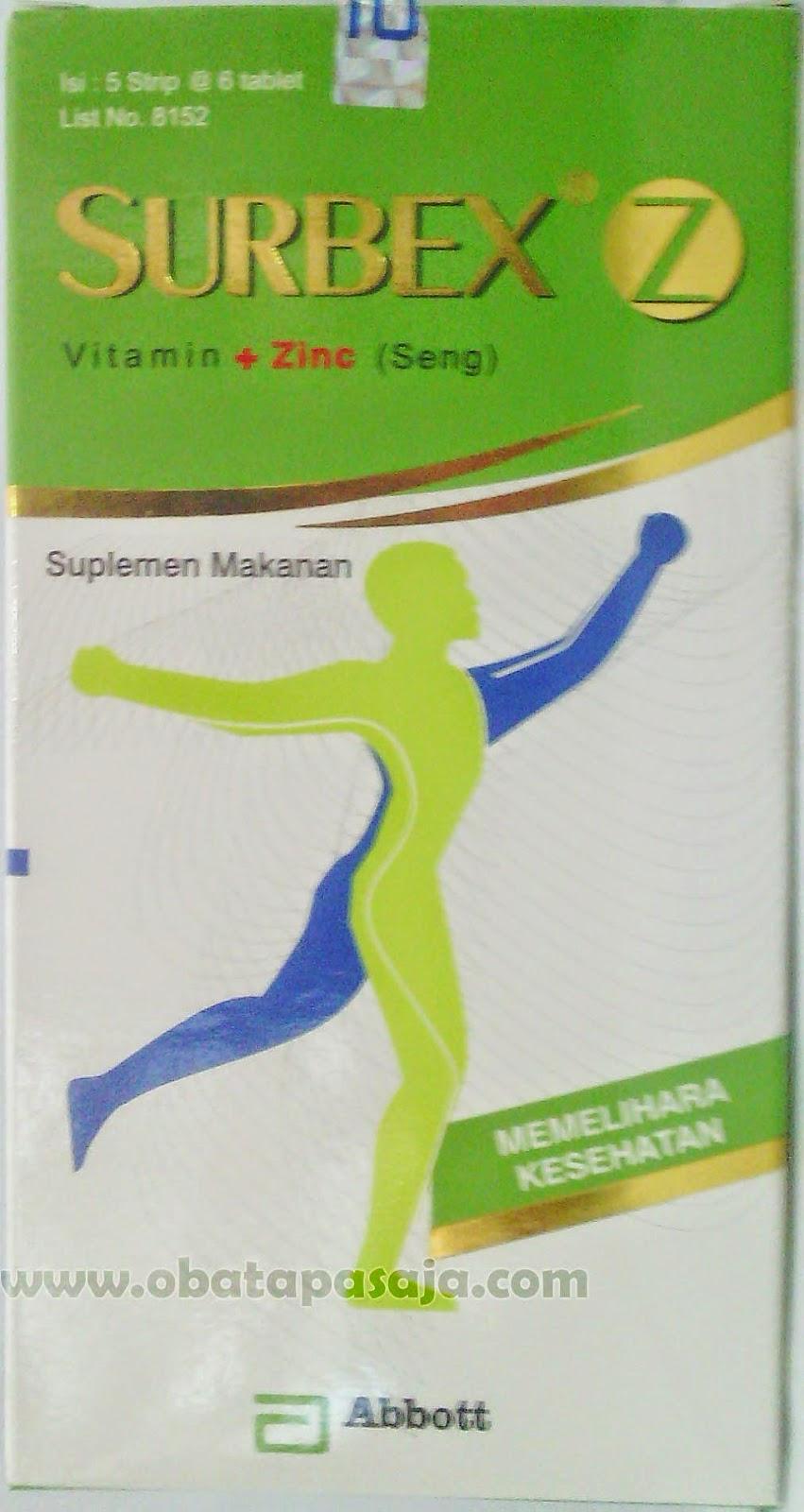 Komposisi dan Harga Surbex Z Vitamin + Zinc (Seng)