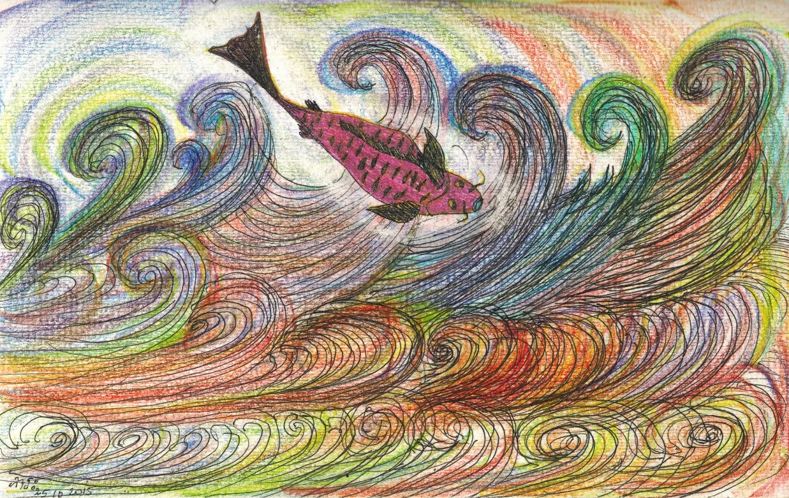 Un passeport pour revivre dessiner croquis d 39 un poisson - Croquis poisson ...