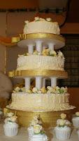 3 tier wedding cake - Choc Moist with fresh cream and butter cream