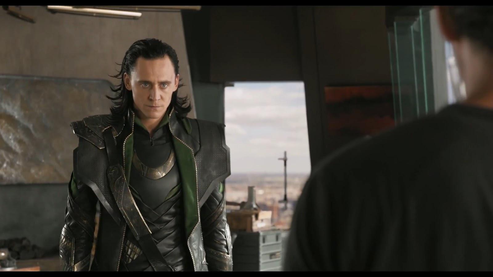 "... "" scene with Loki VS Tony Stark - also a behind the scenes video"