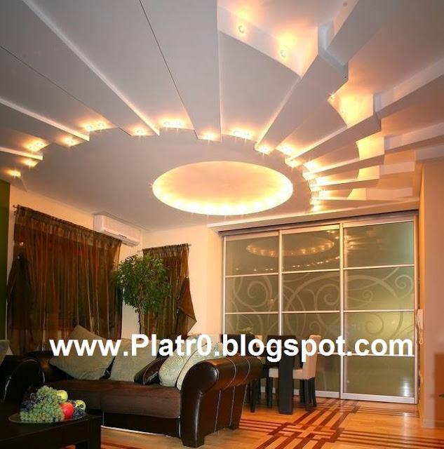 Tres belle plafond platre moderne d coration platre for Platre dicor 2015