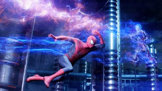 superhero supervillain fight spider-man