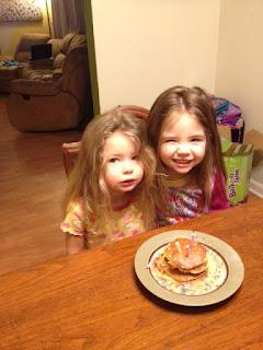 birthday cake pancakes, sugar syrup