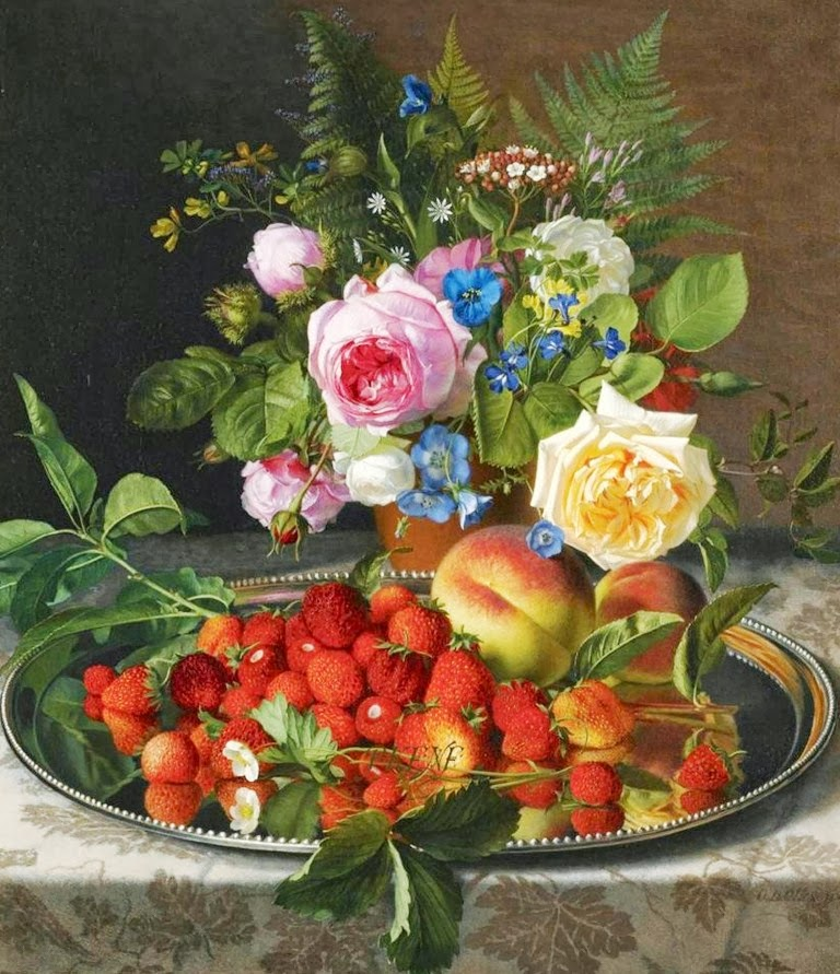 Arte pinturas leo bodegones frutas y flores johan - Fotos de bodegones de frutas ...
