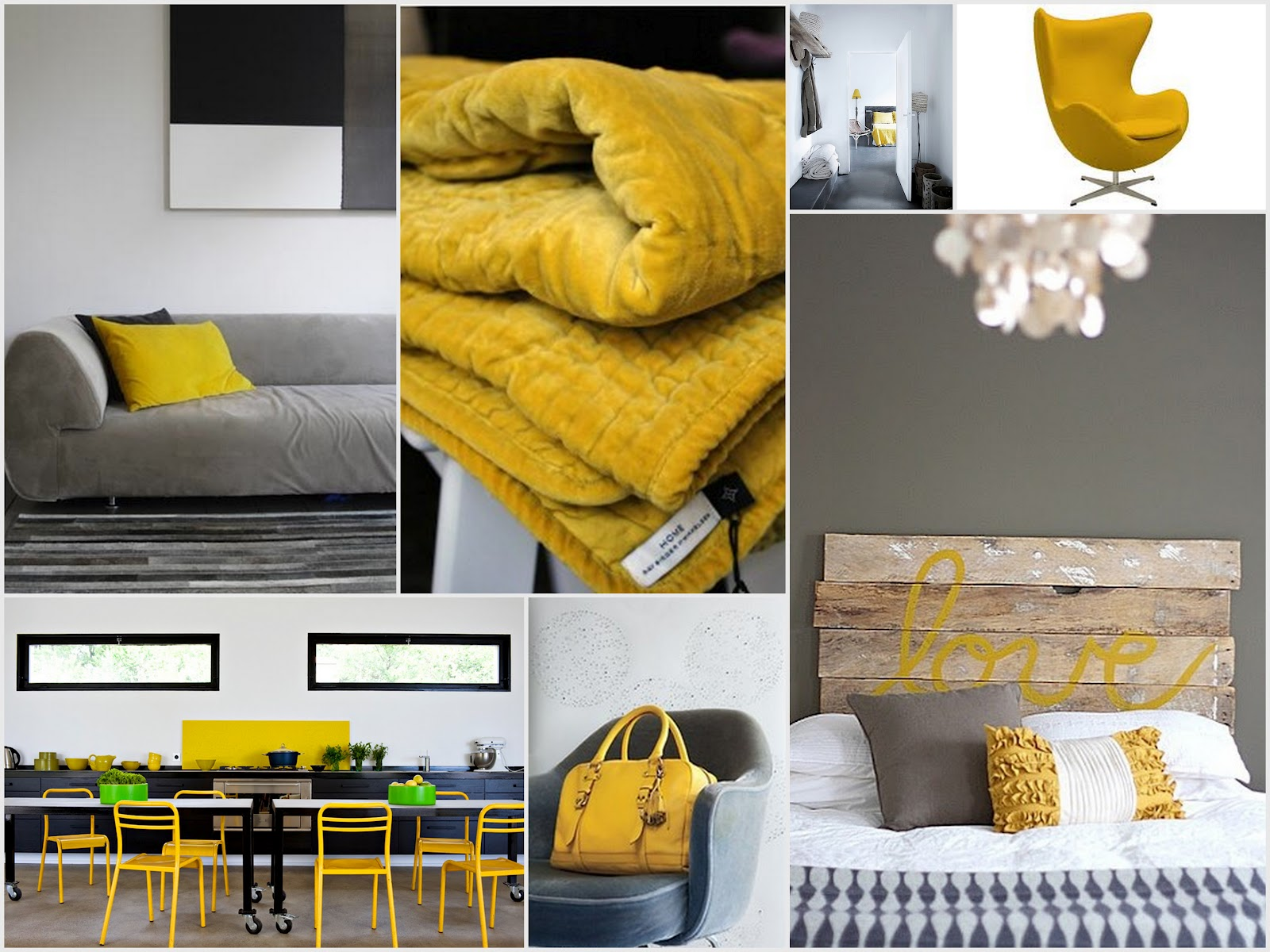 His door haar yellow grey for Interieur geel