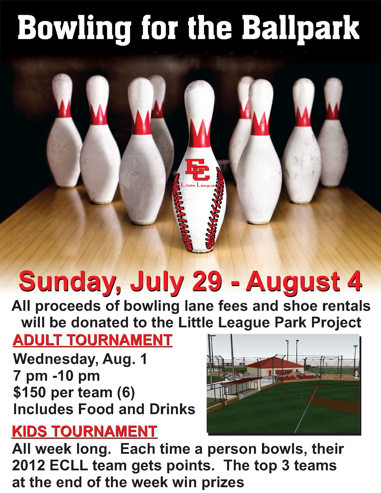 El Campo Bowling Center Sports Bar Smoke Free – Bowling Flyer Template
