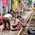 Ekstrimnya Jalur Kereta di Hanoi Vietnam