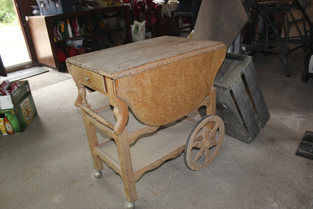 tea cart makeover before