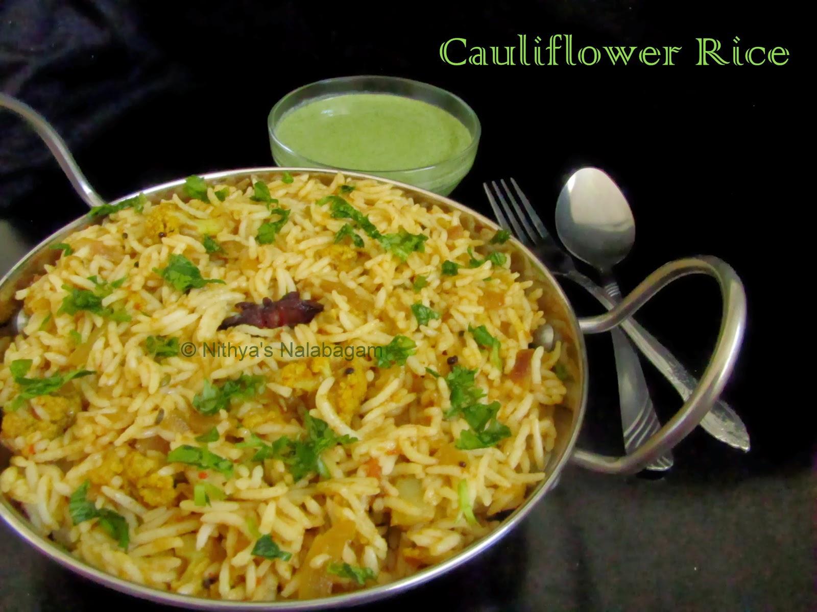 Cauliflower Rice South Indian Style |Nithya's Nalabagam