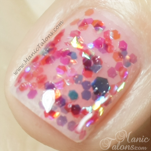 Light Elegance P+ Glitter Gel Gumdrop Swatch