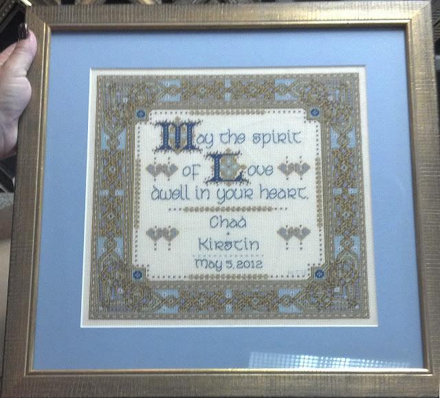 """""""Celtic Wedding Prayer"""" - finished, framed"""