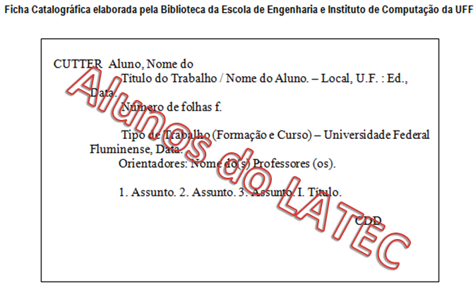 Geração Automática da Ficha Catalográfica [LATEC]