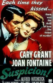 HVB vintage wedding blog - Remembering Joan Fontaine, SUSPICION poster