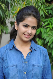 Acress Avika Gor Pictures in Pink Tight Jeans at Uyyala Jampala Movie Press Meet 0013.jpg