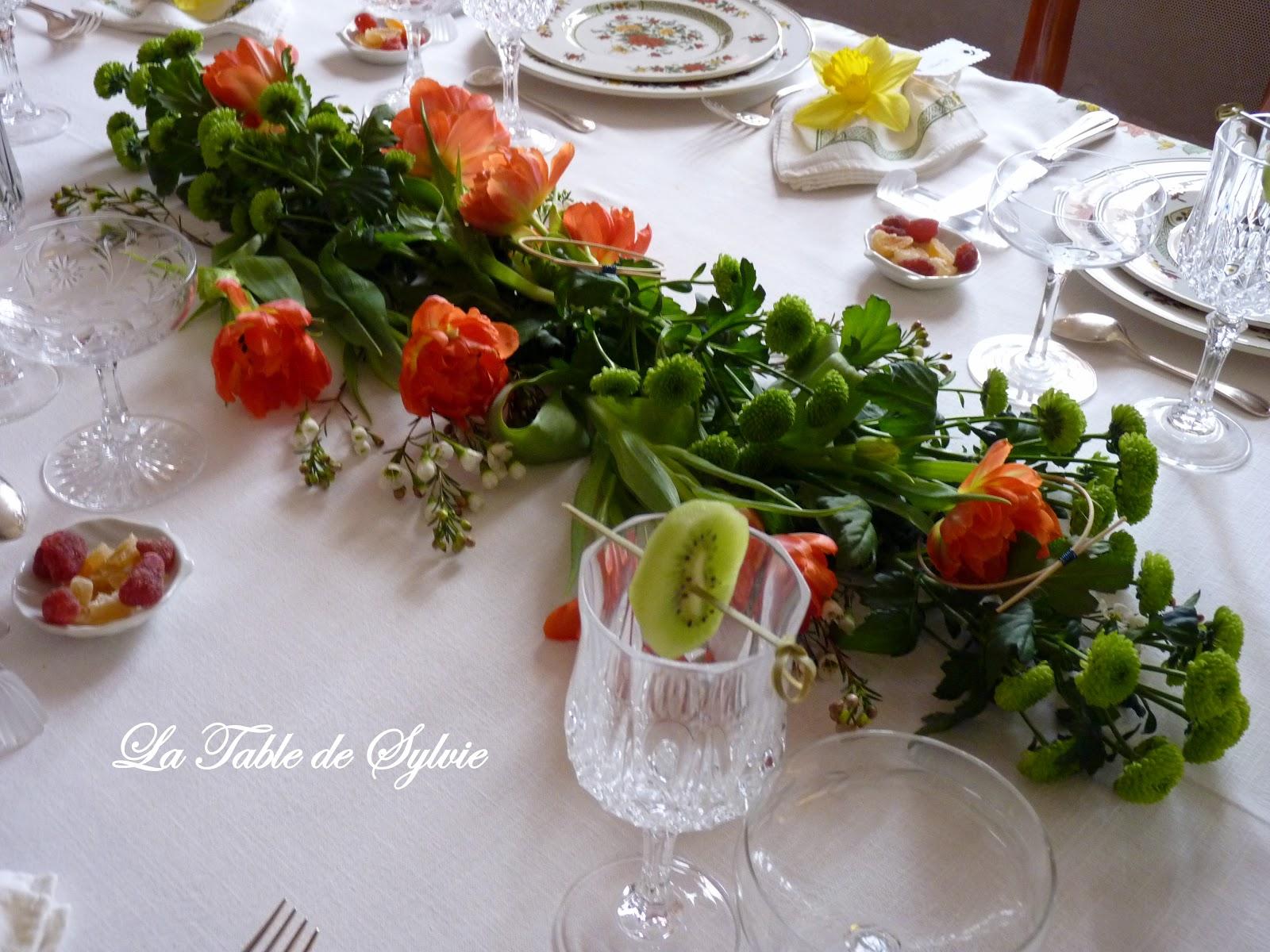 La table de sylvie table classique - Chemin de table fleurs naturelles ...