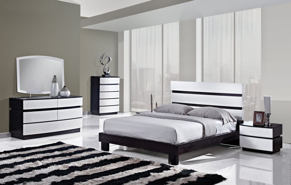 id e d coration chambre noir et blanc id es d co pour. Black Bedroom Furniture Sets. Home Design Ideas