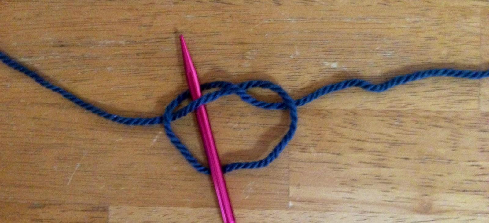 Knitting Stitches Slip Knot : A Flood of Stitches: Knitting basics - How to make a slip knot