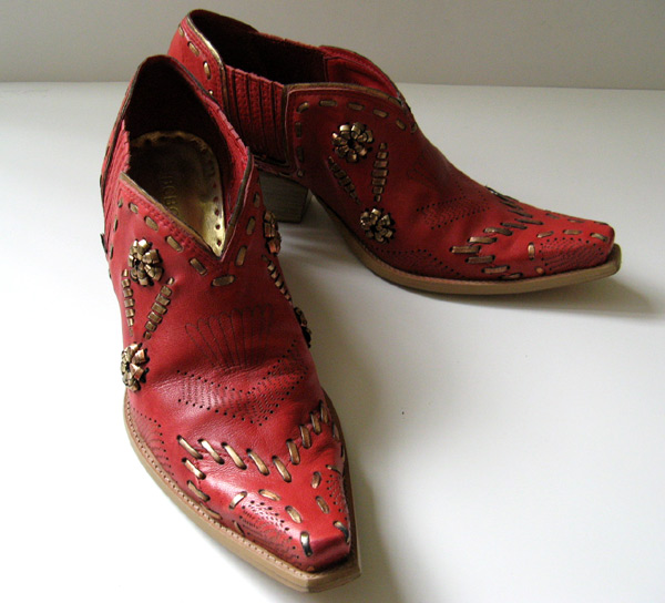 Lastest Laredo Womens Red All Leather Madison 11in Snip Toe Cowboy Boots