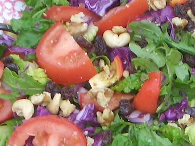 arugala and cashew salad
