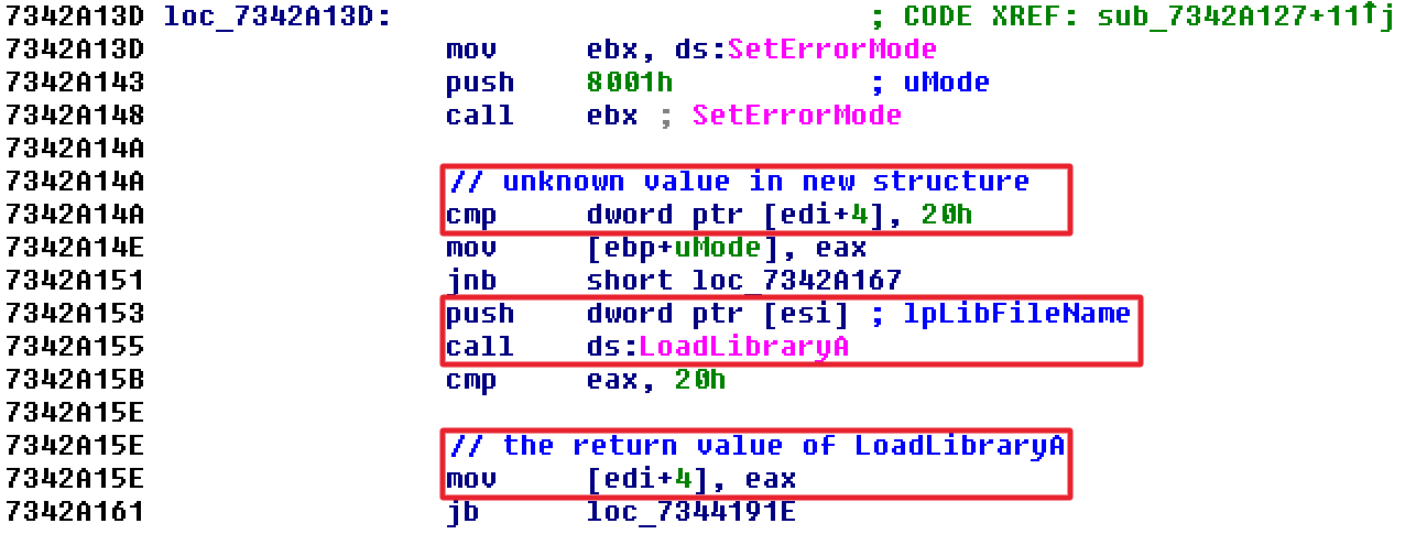 IDA Pro Text View of msvbvm60!sub_7342A127 Part 1