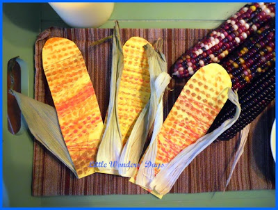 corn preschool theme, fall fun, corn art