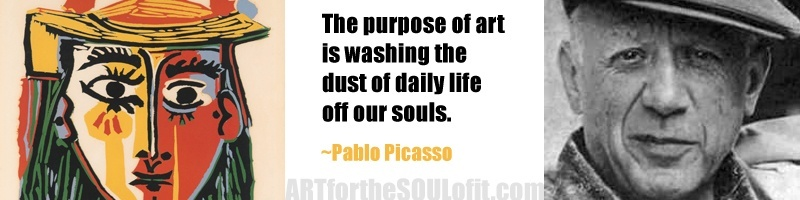 pablo picasso quote - the purpose of art is washing the dust...