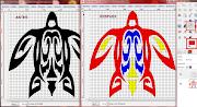 Elegid la Herramienta de relleno y coloread la zonas elegidas para cada uno .