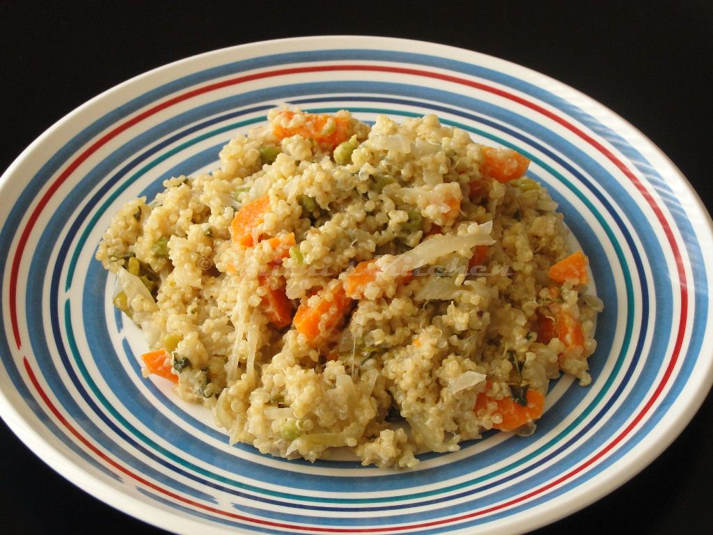 Krithi 39 s kitchen quinoa pilaf quinoa coconut milk pulao for Quinoa recipes indian