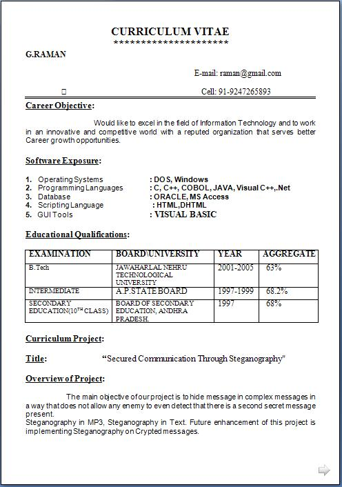 resume models free download