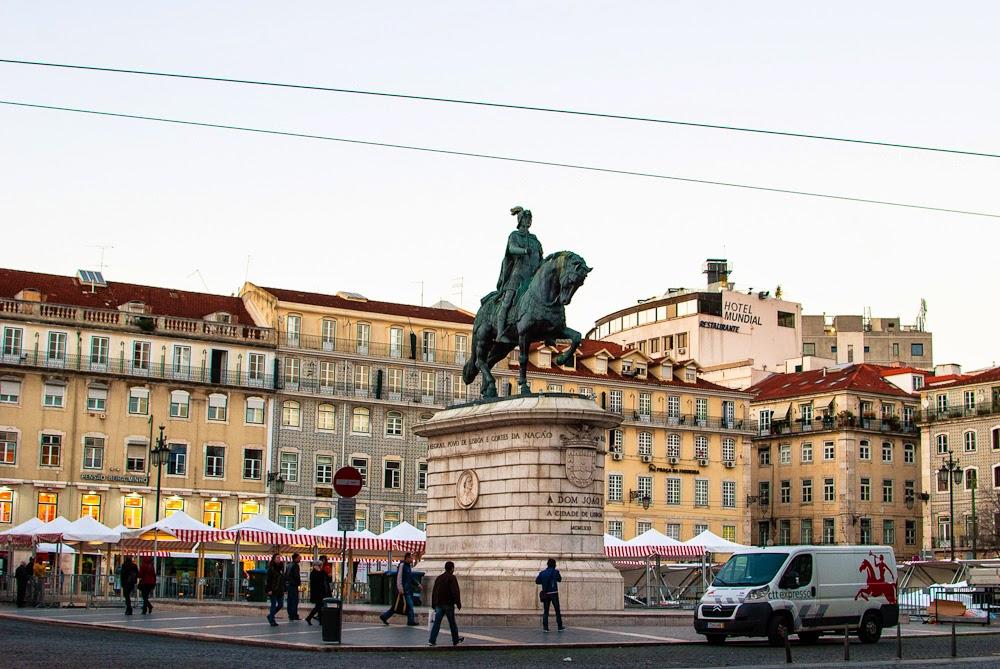 market in rossio square lisbon portugal