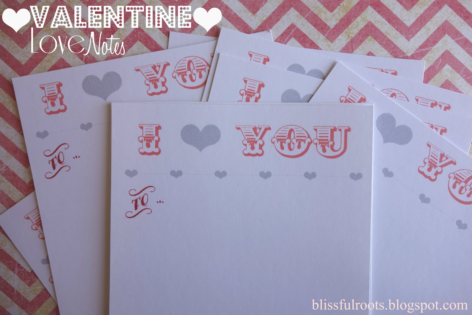 Blissful roots valentine love notes printable for Valentine notes for her