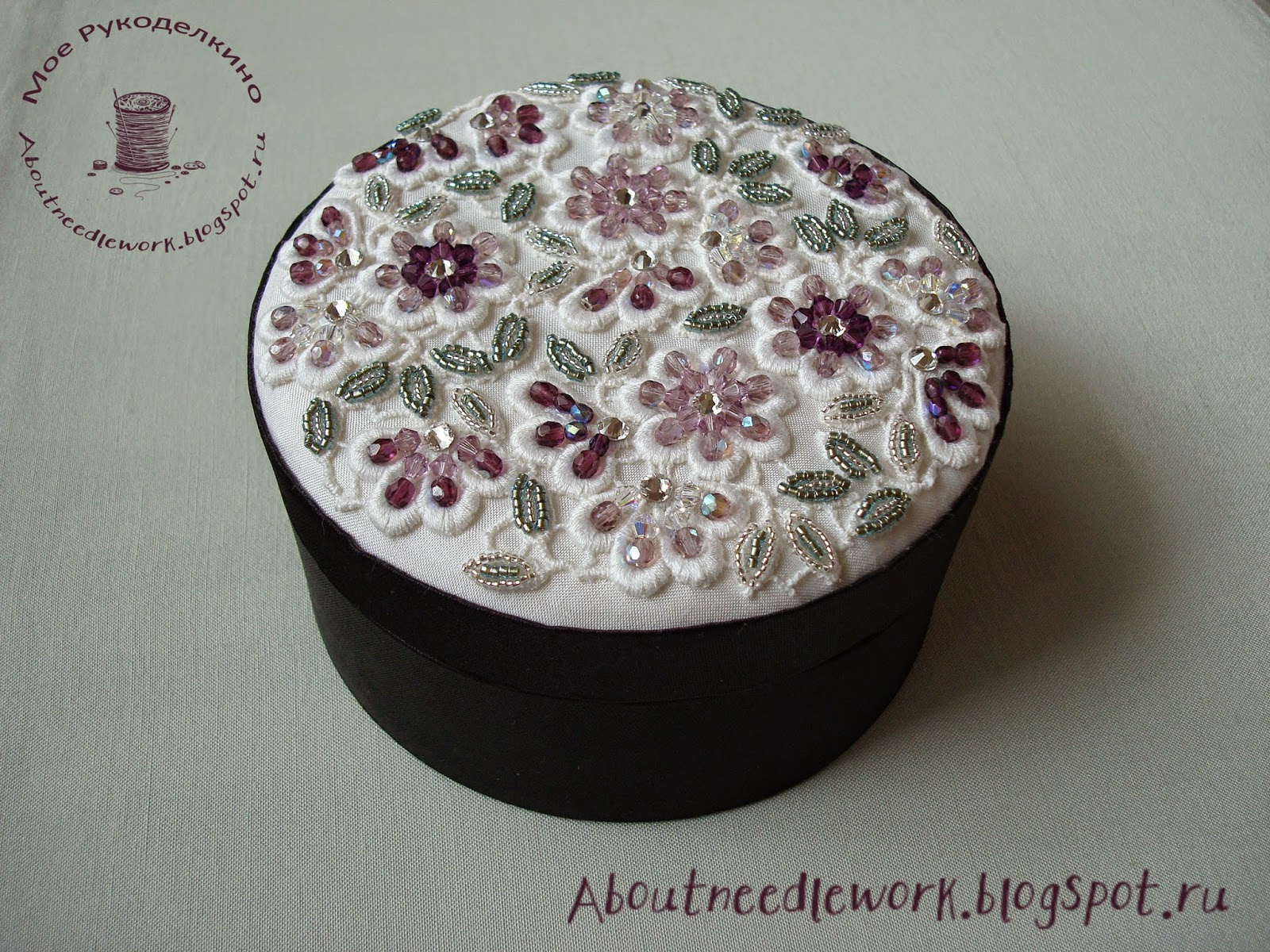 Шкатулка вышивка бисером
