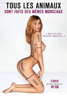 Zahia Dehar pose pour PETA