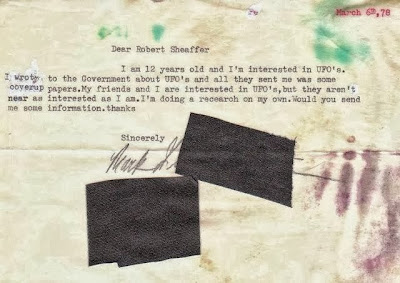 Inquiry To Robert Sheaffer Re UFOs (From 12-year-old) - 3-6-1978