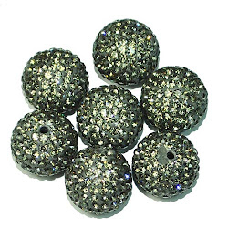 Pewter Pave Beads