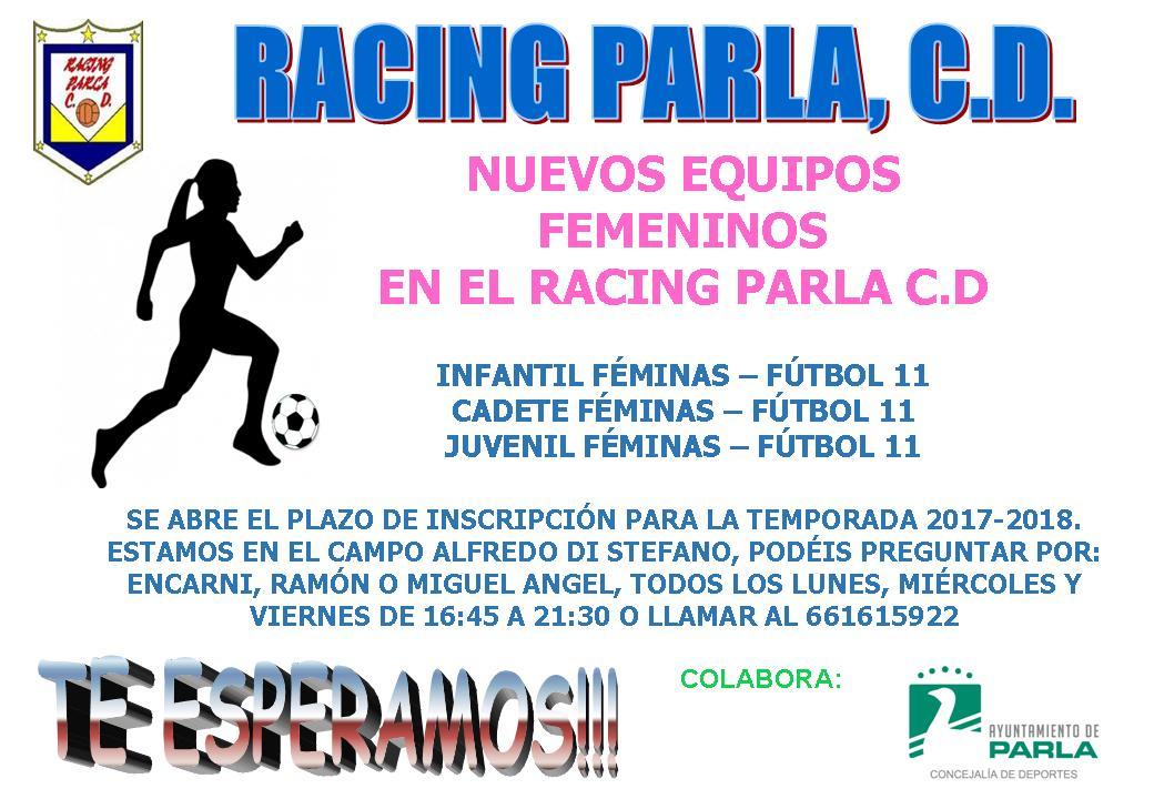 Racing Parla busca jugadoras
