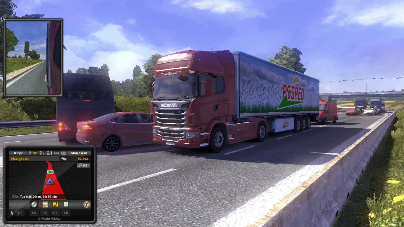 Download Euro Truck Simulator 2 - harap tenang