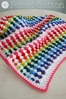 Cuppy Cakes Blanket Crochet Pattern by Susan Carlson of Felted Button