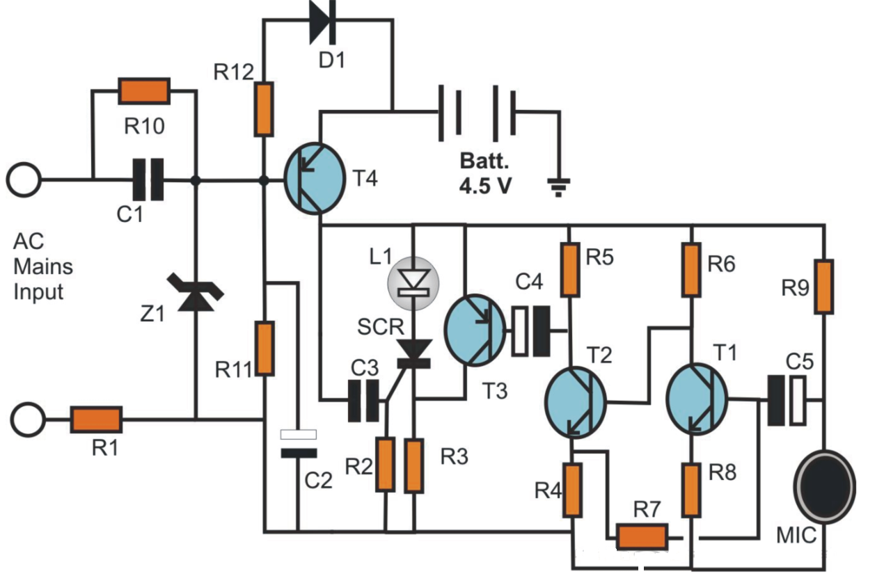 Simple Electronic Candle Circuit Schematics World Rf Power Switch Diagram Diagrams