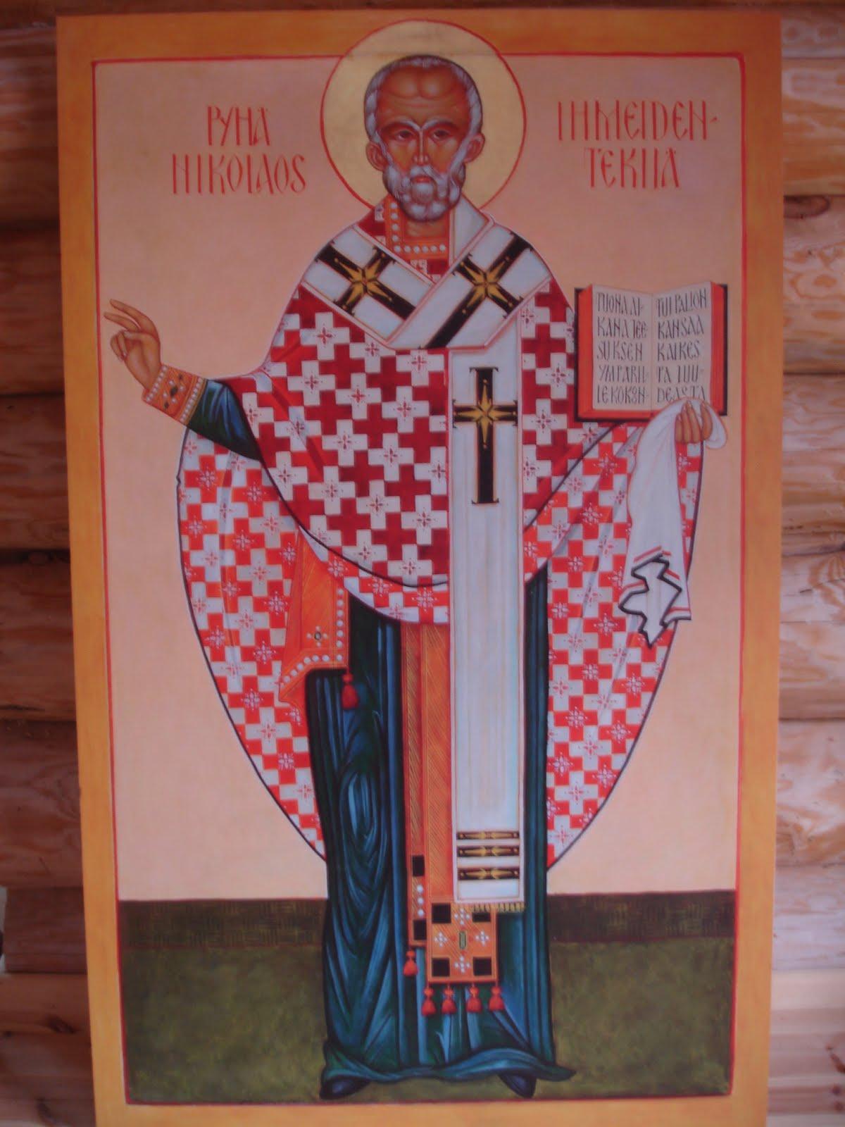Pyhä Nikolaos, tsasounan nimikkopyhimys, lasten, matkailijoiden ja merimiesten suojelija