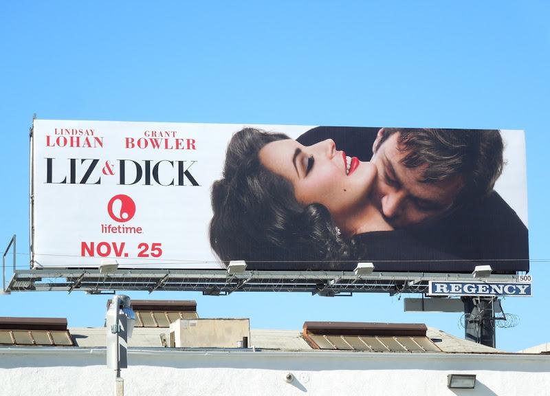Liz Dick kiss billboard