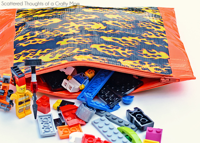 no sew zippered pouch from duct tape