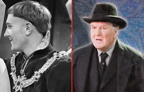 Robert+Hardy+ +Cornelius+Fudge+Sai+Chul%C3%A9 Atores do Harry Potter quando eram mais jovens