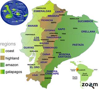 mapa del ecuador y sus provincias