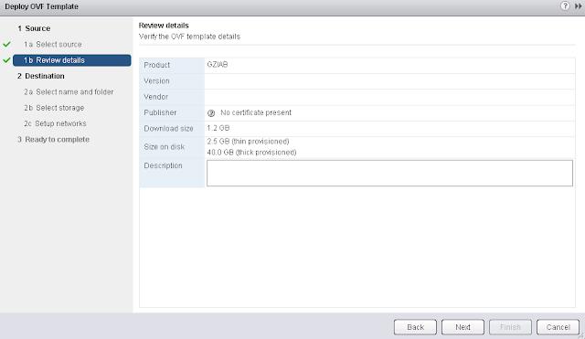 vXpress: Installing GravityZone-in-a-Box (GZiaB) in a VMware vSphere Environment..
