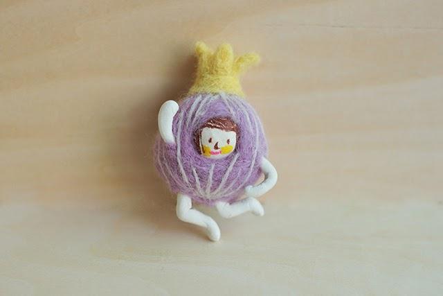 cebolla fieltro lana manualidades xiao zeng