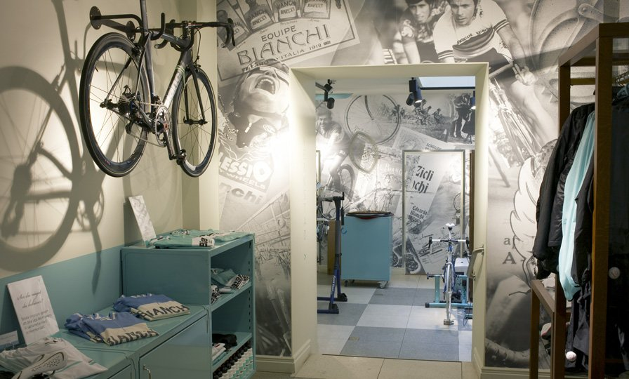 Imagine These Cafe Interior Design Bianchi Cafe Cycles Norrlandsgatan Stockholm